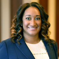 Headshot of Greensfelder attorney Camille Toney