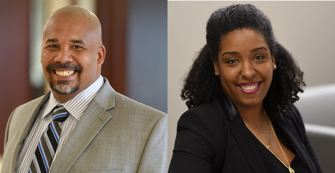 Headshots of Chief Diversity Officer Chris Pickett and Diversity & Inclusion Manager Carmen White