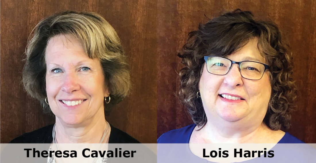 Headshot of Greensfelder staff members Theresa Cavalier and Lois Harris