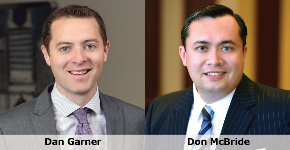 Headshots of Dan Garner and Don McBride