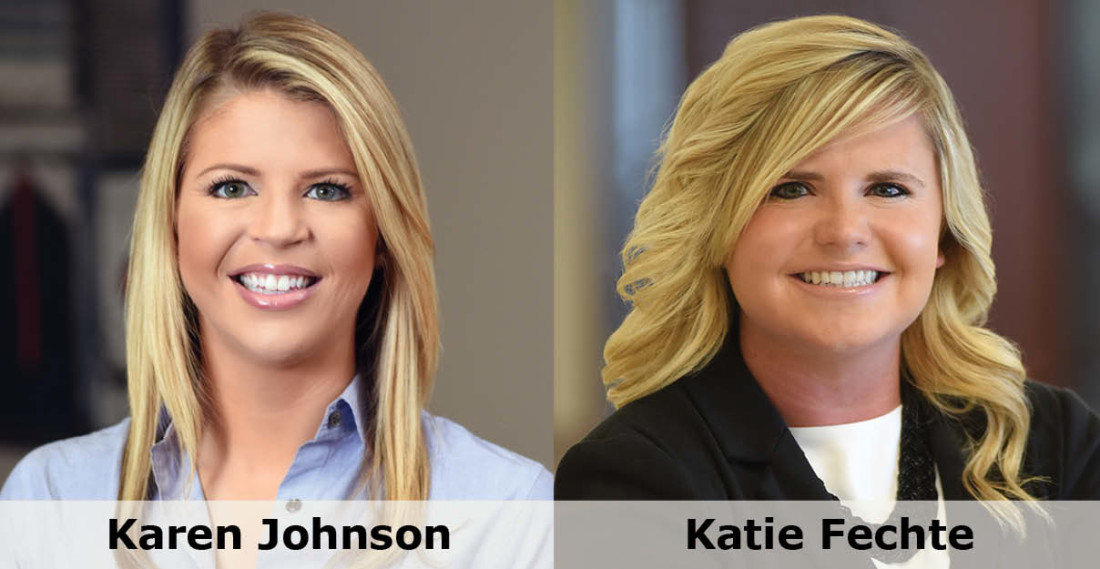Headshot of Greensfelder attorneys Karen Johnson and Katie Fechte