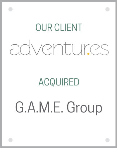 Our client Adventur.es acquired the G.A.M.E. Group.