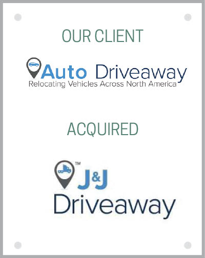 Our client Auto Driveaway acquired J&J Drive-Away, Inc. and J&J Freight Brokers, LLC