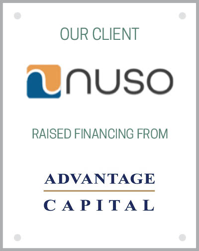 Our client Nuso, LLC raised financing from Advantage Capital.