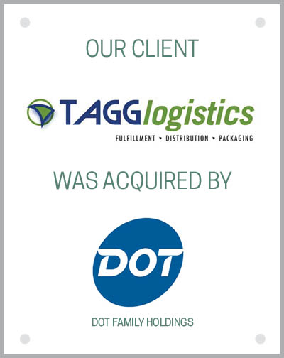 Our client TAGG Logistics was acquired by Dot Family Holdings.