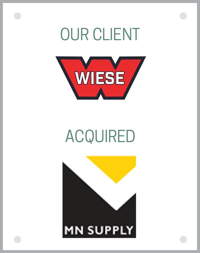 Our client Wiese USA acquired Minnesota Supply Co.
