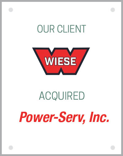 Our client Wiese USA acquired Power-Serv, Inc.