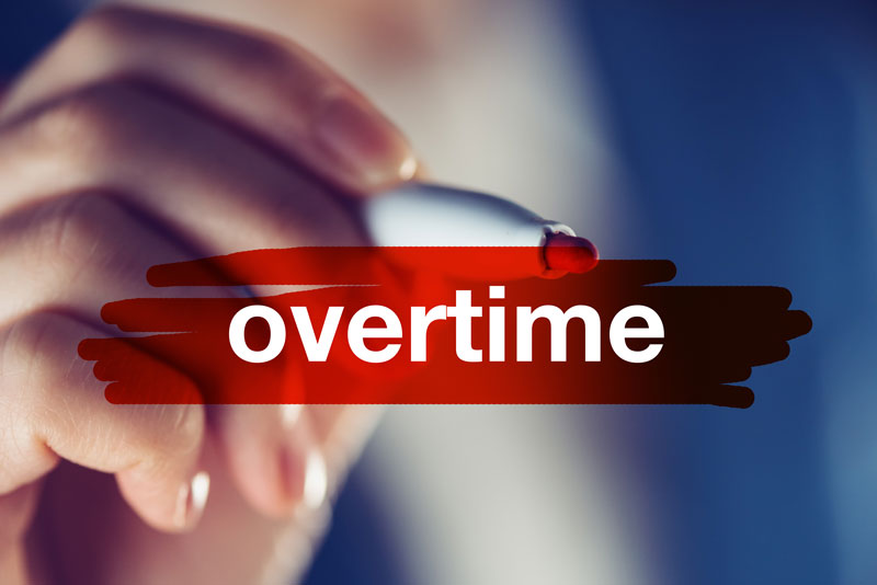 The word overtime is highlighted