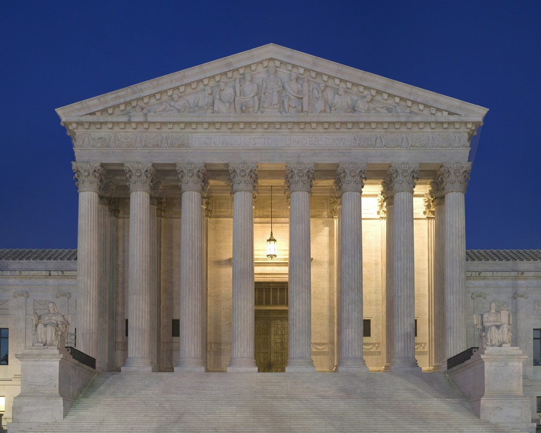 Front of the U.S. Supreme Court