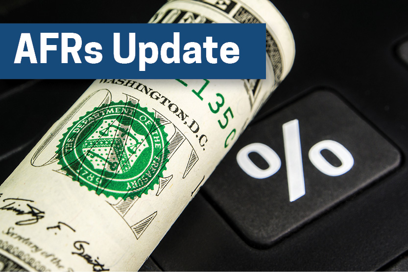IRS releases AFRs for September 2019