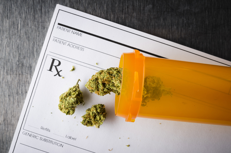 Medical marijuana with a prescription form